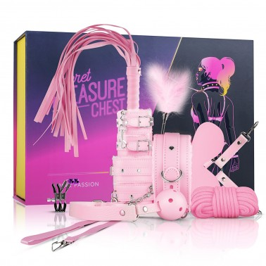 Secret Pleasure Chest Pink - Kit de Bondage BDSM