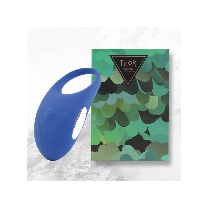 Anilla Vibradora Thor. Azul. Recargable
