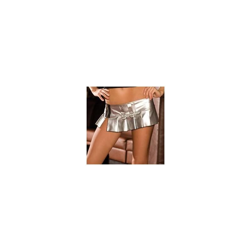 Minifalda PVC Plata