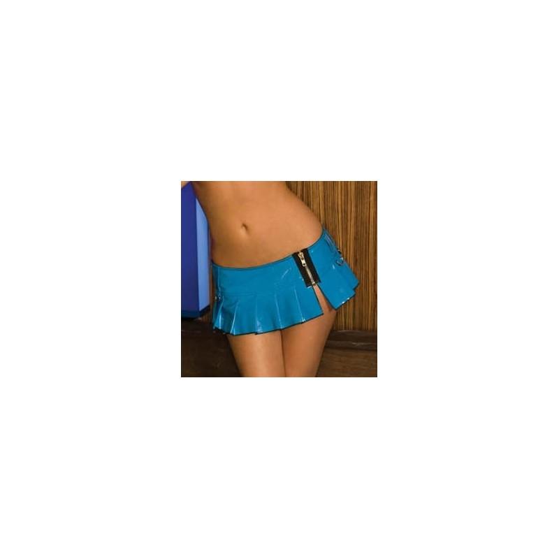 Minifalda PVC Azul