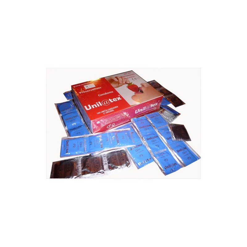 144 ud Fresa - Rojos Preservativos Gran Consumo