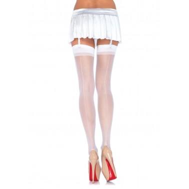 Medias Lisas Blancas con costura