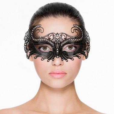 Máscara Metal Negra Abierta ET114