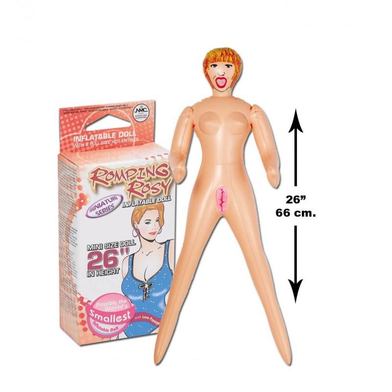 Mini muñeca hinchable 66 cm Rosy