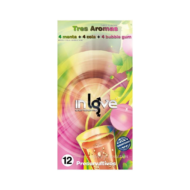 Preservativo 12uds Menta, Cola y Chicle