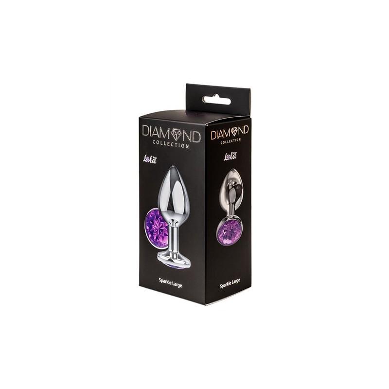 Sparkle Large - Joya Anal Aluminio - Lila - Talla L