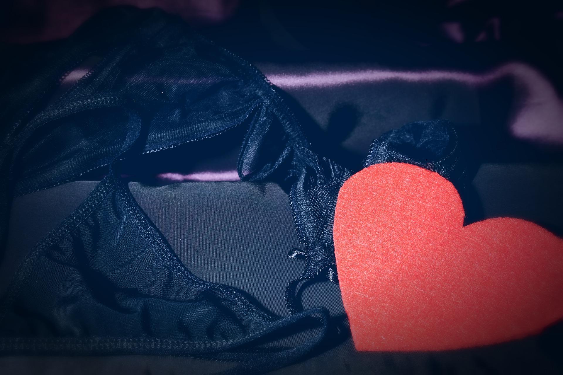 Lenceria y corazon